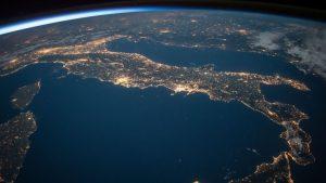 Włochy widziane z kosmosu